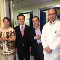 da sinistra la Dr.ssa Pacifico, il Prof. Lim, il Dr. Leone  e il Dr. Paro Vidolin